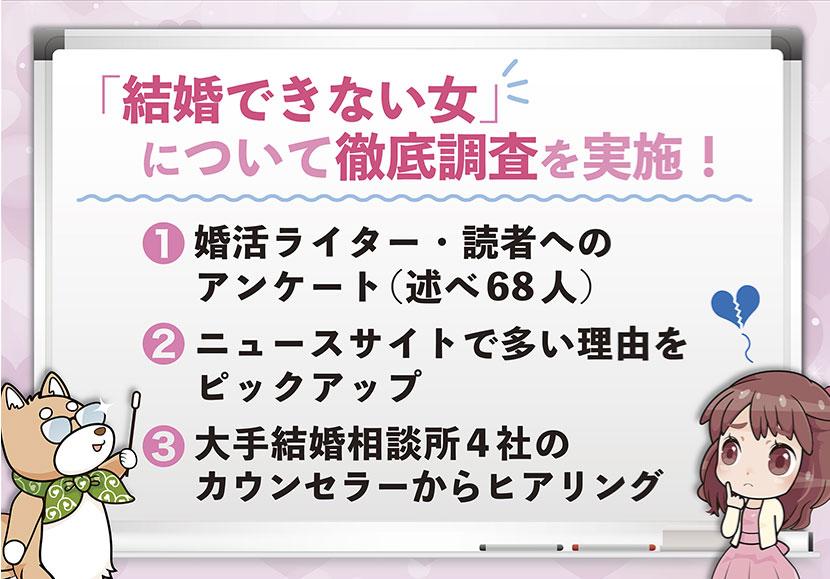 「結婚できない女」の理由TOP3を発表