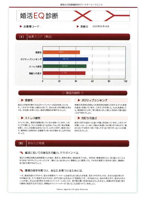 【パートナーエージェント】婚活EQ診断